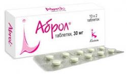 Аброл таблетки