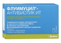 Флуимуцил-антибиотик ИТ