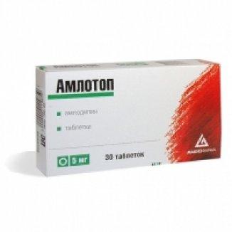 Амлотоп цена в Томске от 175 руб., купить Амлотоп, отзывы и инструкция по применению