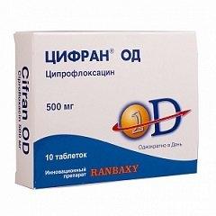 Лекарственное средство Цифран ОД с мощным антибактериальным эффектом