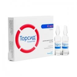 Торсид растворы для инъекции 5мг 1 мл