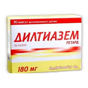 Дилтиазем (Diltiazem) - инструкция по применению, состав, аналоги препарата, дозировки, побочные действия